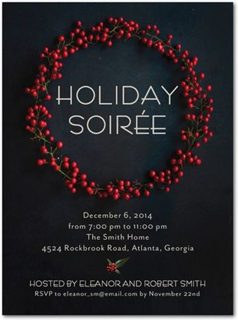 1000 Ideas About Holiday Invitations On Pinterest Font