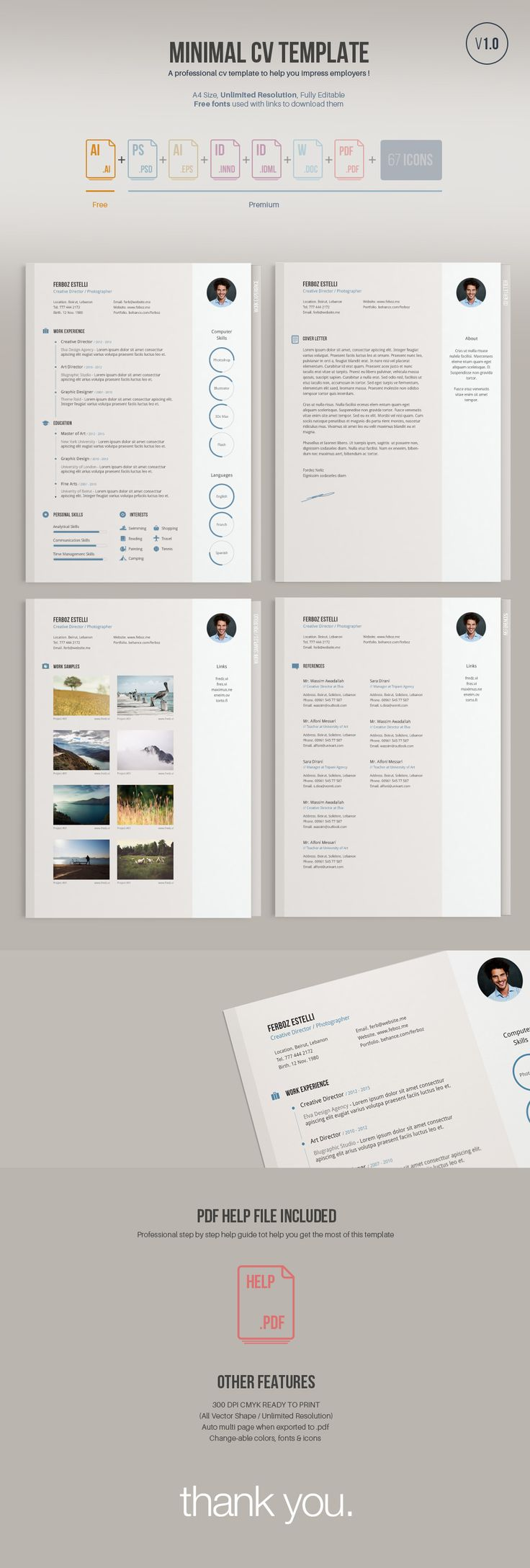 a minimal easy to edit free resume template free version comes in