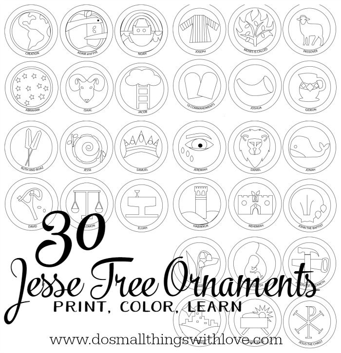 Jesse Tree Ornaments to Print and Color Coloring, Search