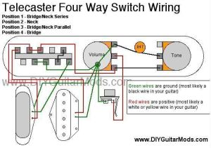 telecaster 4 way switch wiring diagram | Cool Guitar Mods