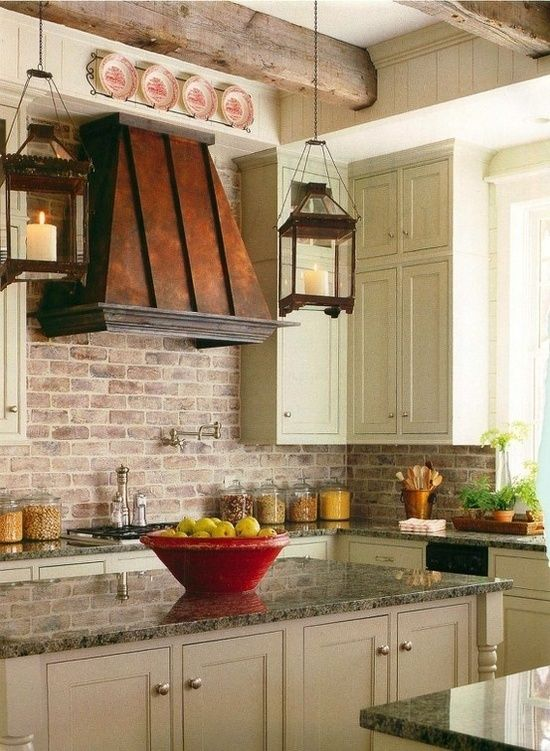 Brick Backsplashes Rustic And Full Of Charm Copper