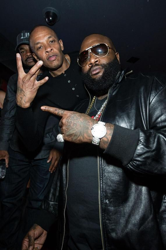 Dr. Dre and Rick Ross at Marquee on Jan 10, 2013