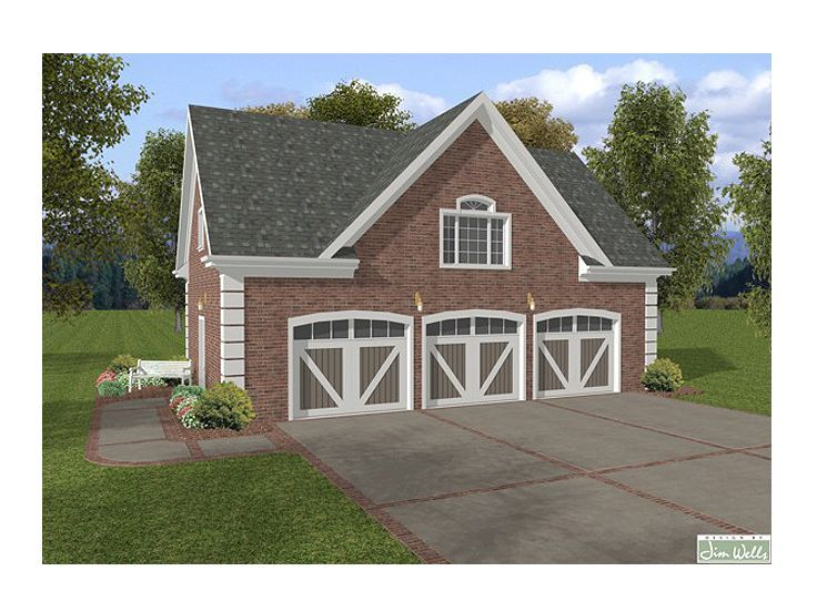 17 Best Images About 3-Car Garage Plans On Pinterest