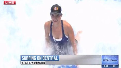 Watch As Channel 3s Heidi Goitia Tries Out The FlowRider