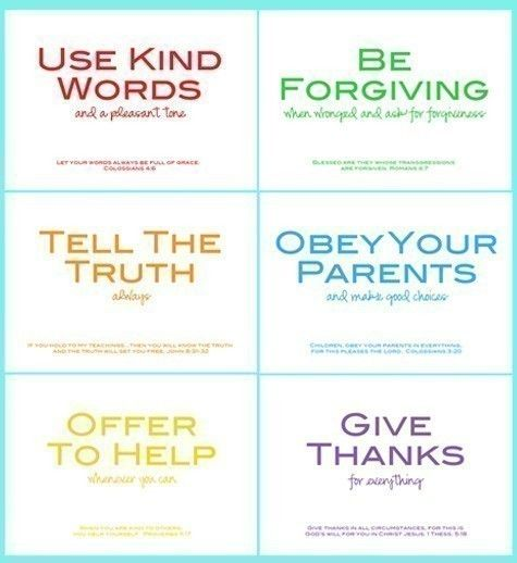 """family rules supported with scriptures. we were thinking of some different wording and rules like """"obedience"""" and """"respect."""""""