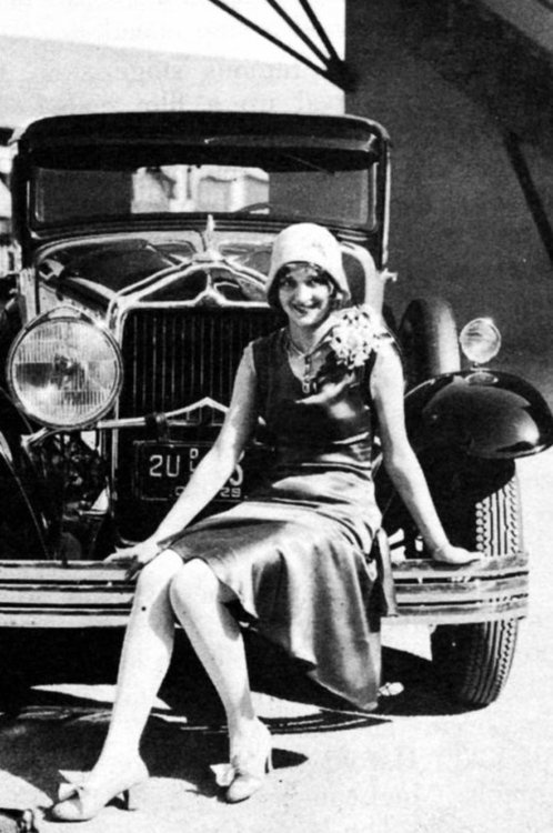 heckyesmarianmarsh Marian Marsh and a snazzy car c