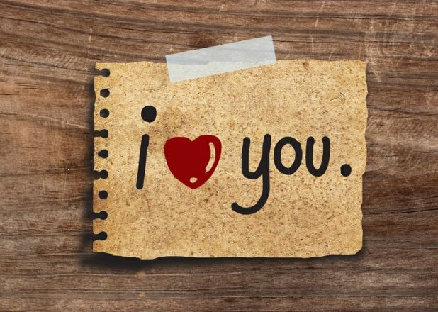 """say """"I love you"""" without words"""