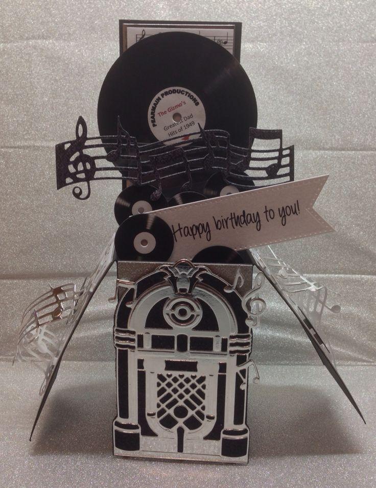 Jukebox Box card! Made using Tonic Studios Jukebox die