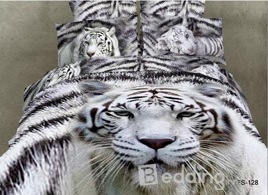 White Tiger,more 3D Bedding Sets