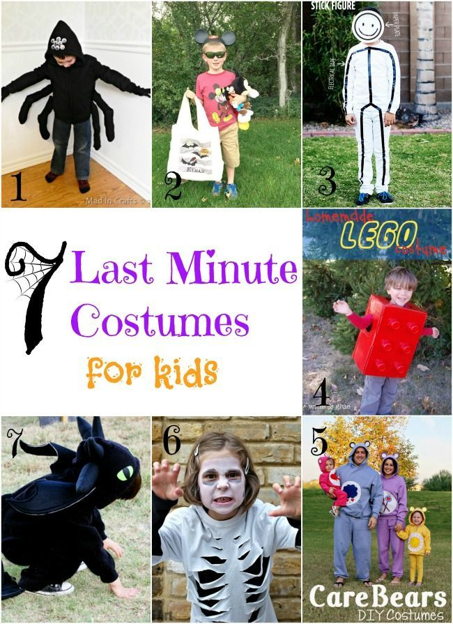 7 DIY Last Minute Costumes for Kids Last minute, Kid and