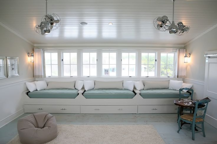 Side View Chic Boy S Room With Beadboard Cathedral Ceiling