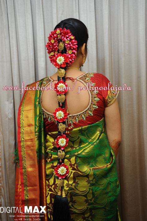 South Indian Bridal Hair Style Wedding Hair Style By