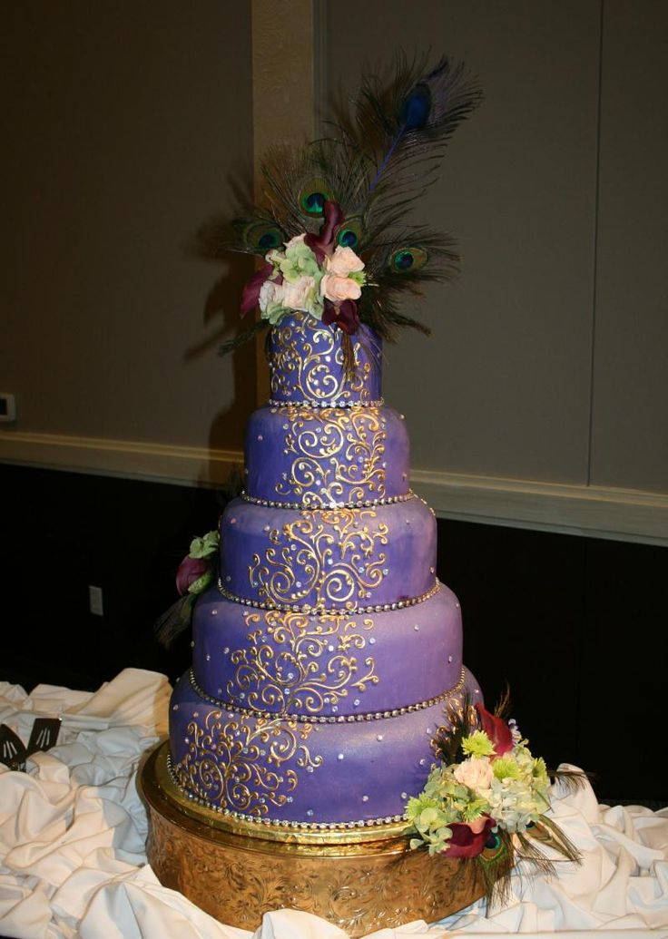 252 Best Images About Peacock Wedding Cakes On Pinterest