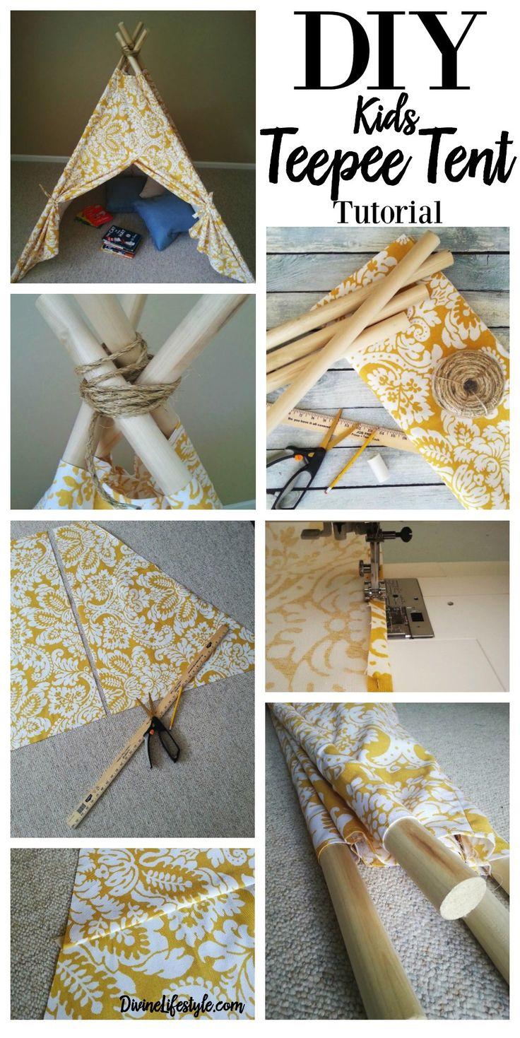 DIY Kids Teepee Tent Tutorial Kids Teepee Tent Fabrics
