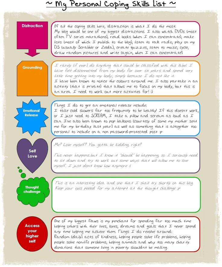 Coping Skills Writing and Coping skills