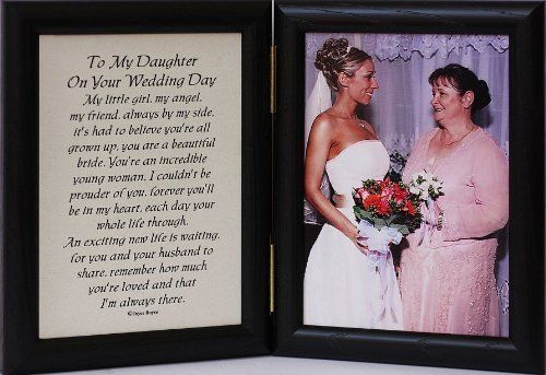 5x7 Hinged TO MY DAUGHTER ON YOUR WEDDING DAY Poem