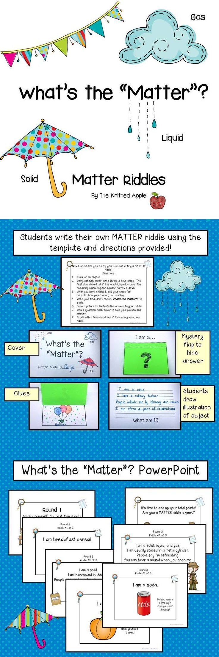 Matter Riddles {PowerPoint Presentation and Riddle