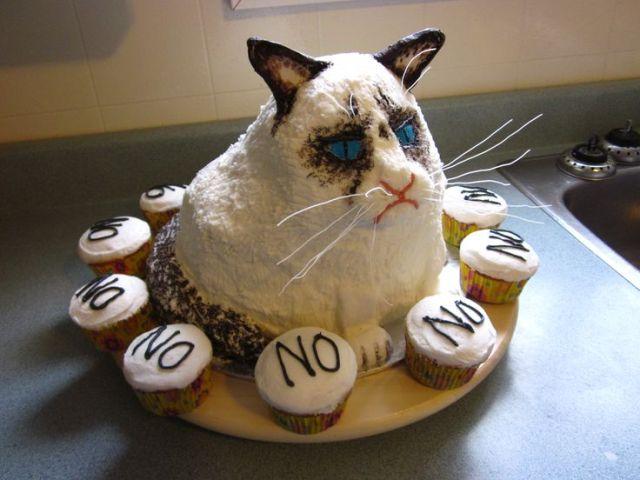 Grumpy cat birthday cake grumpycat cake for more grumpy