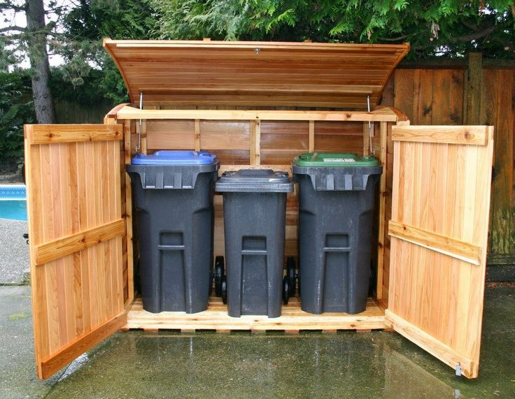 Best 20 Garbage Can Storage Ideas On Pinterest Outdoor Trash Cans Outdoor Storage Units And