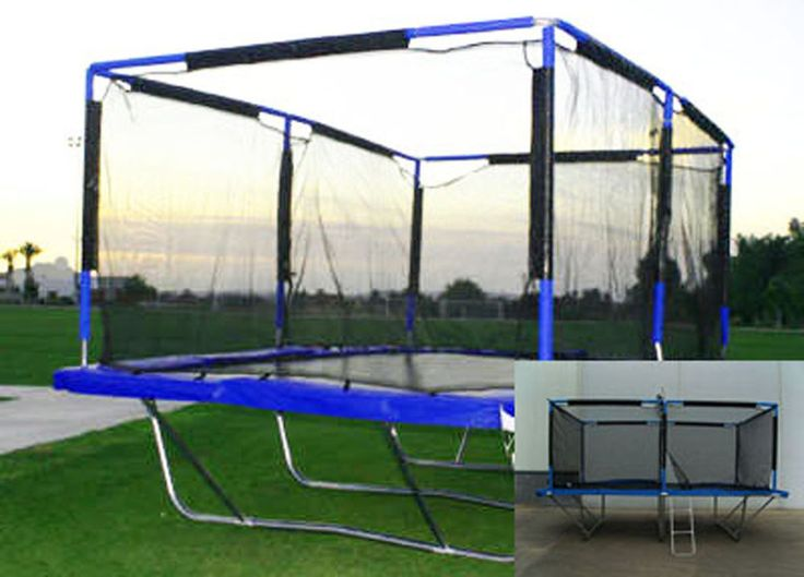 New Rectangle 10x17 Feet Trampoline Safety Net Pads