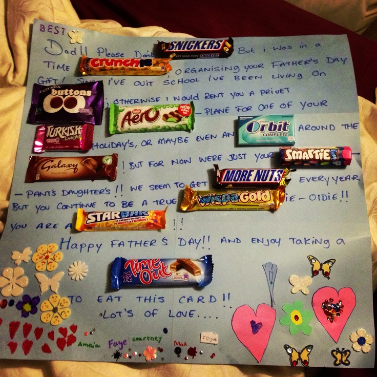 Fathers day chocolate card gifts pinterest fathers