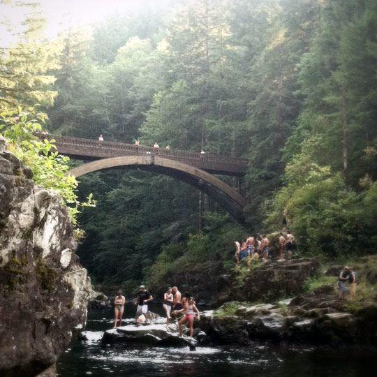 Footbridge At Moutlon Falls Battle Ground Washington