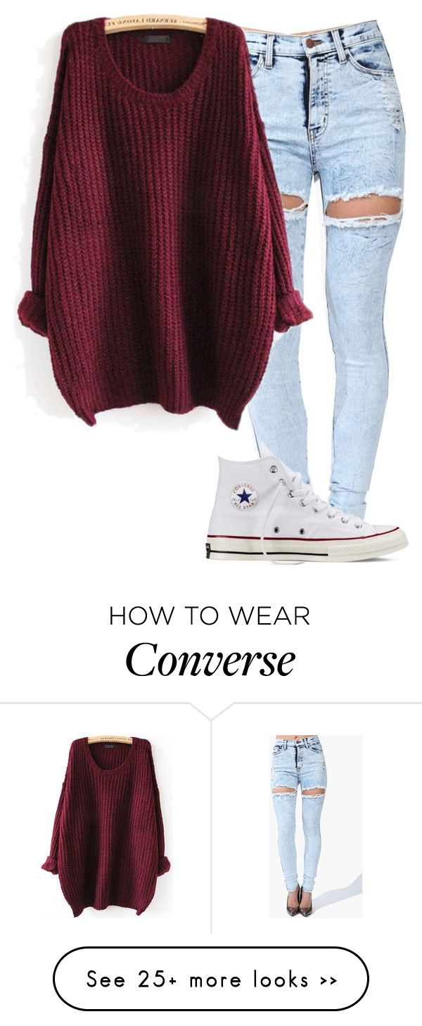"""Unbenannt #3039"" by summerlove1d on Polyvore featuring Converse"