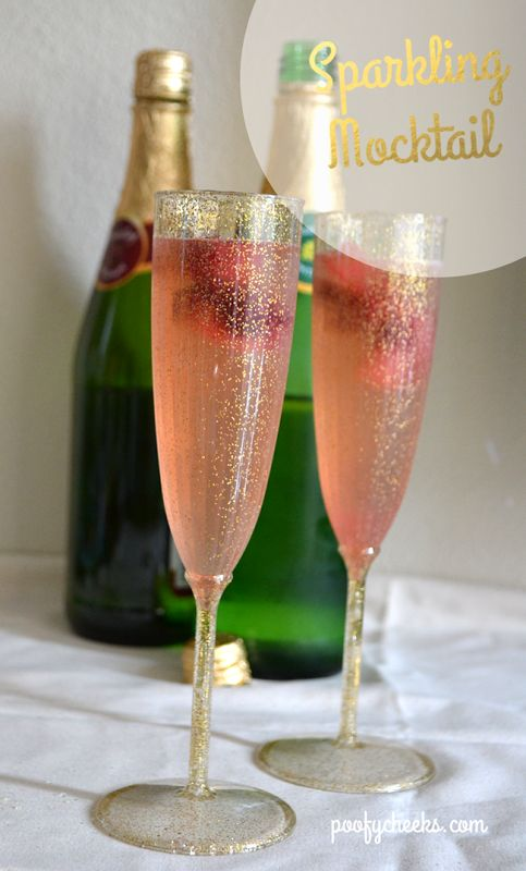 Sparkling Raspberry Mocktail – perfect for the kids and guests who dont drink alcohol!