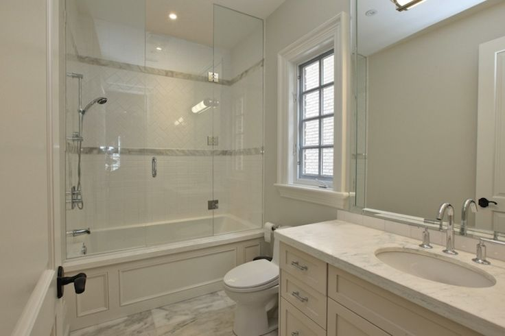 Suzie Pricey Pads Chic Guest Bathroom With Seamless