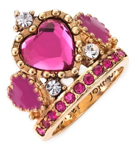 Betsey Johnson 'Varsity Crush' Tiara Ring makes you feel like a princess I never could find the price tag… I want