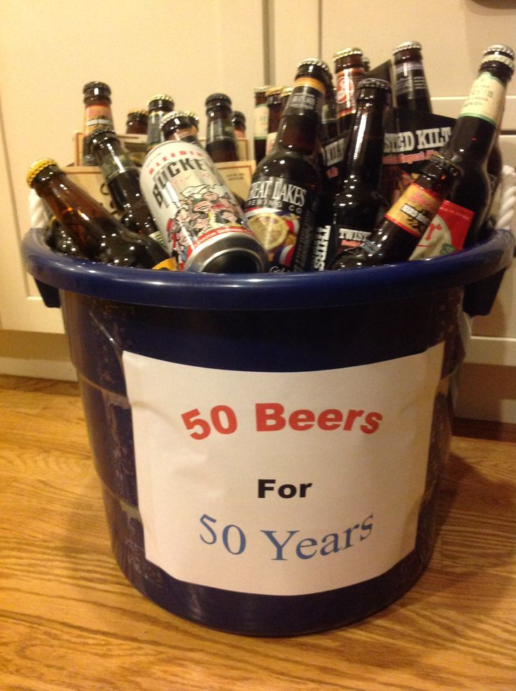 50th birthday gift for your guy Great Gifts! Pinterest