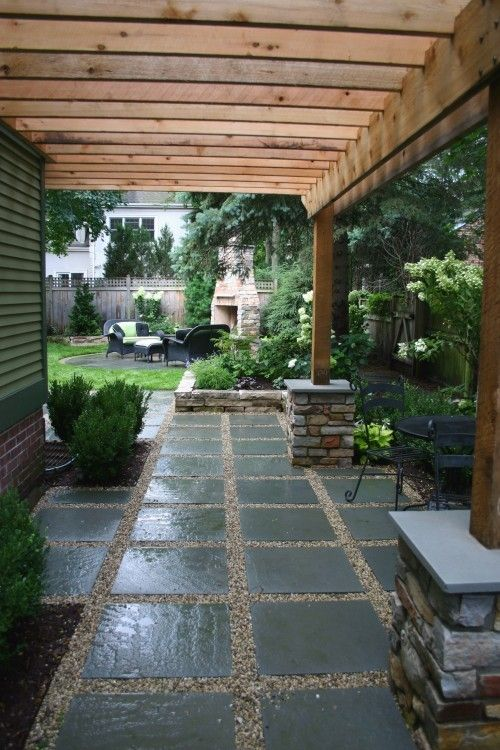 Pergola Covered Walkway Landscaping Pinterest
