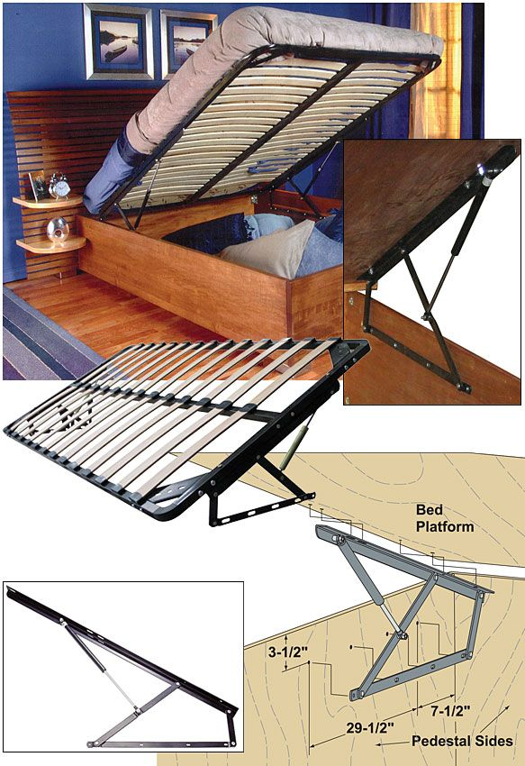 STORAGE BED FRAME AND LIFT KITS Queen With