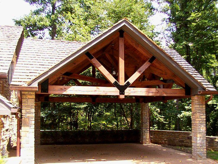 Timber framed carport Outdoor Living Pinterest Posts