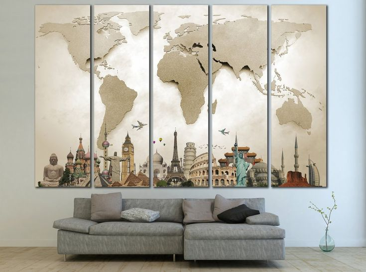 1000+ Ideas About World Map Canvas On Pinterest