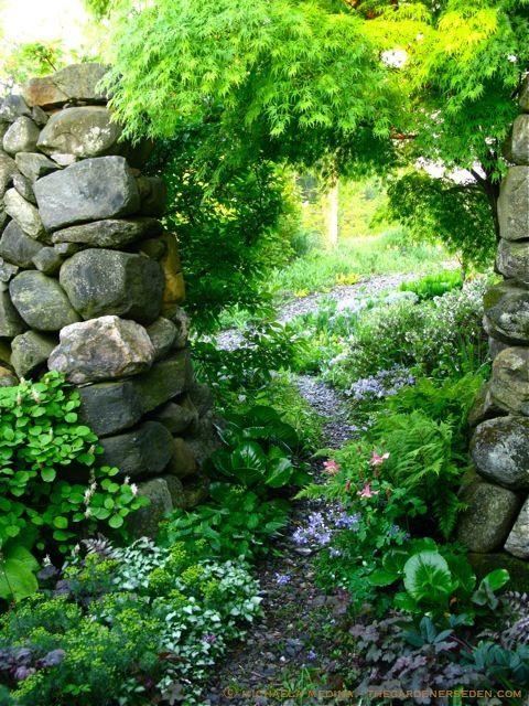 Secret Garden door with Stonework