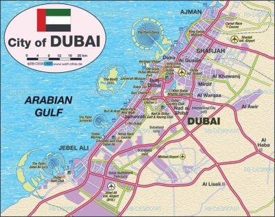 Map of Dubai (United Arab Emirates UAE) | UAE ↔ Dubai ...