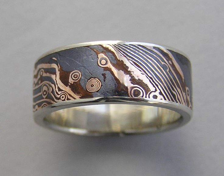 Ring Susan Amador 18kt Rose Gold And Shakudo Mokume