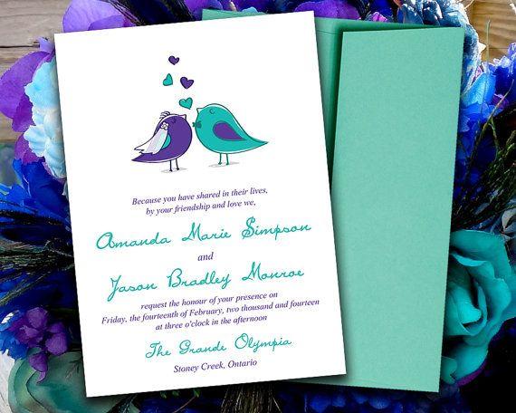 Printable Wedding Reception Invitations