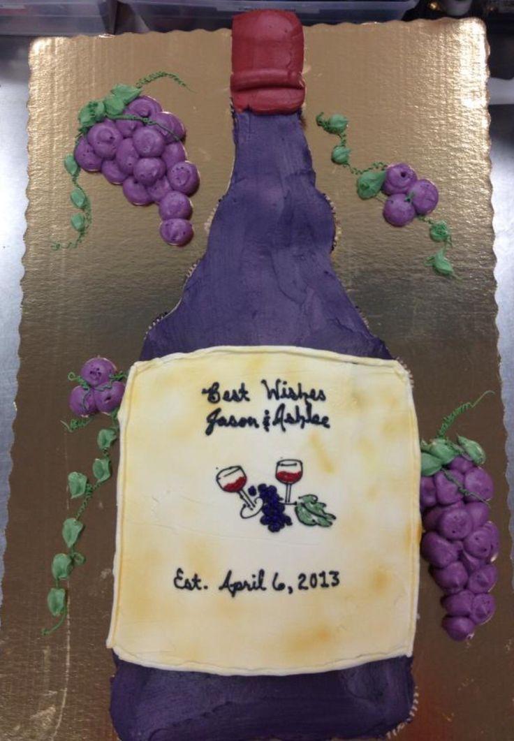 Cupcake Pull Apart Wine Bottle Cake For A Bridal Shower
