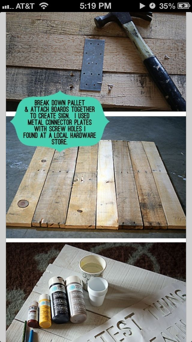 How To Connect Boards From Old Pallets To Make Wall Art Crafts From Crates Pinterest