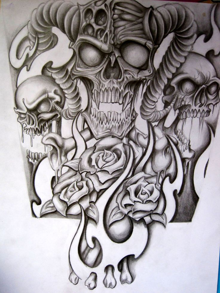 Skull Half Sleeve Tattoo Designs Half sleeve for a