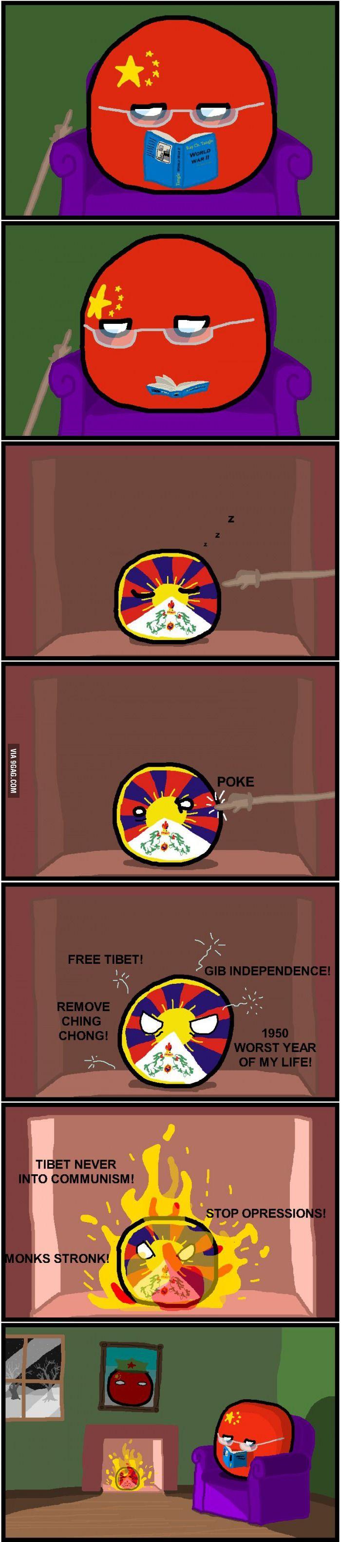 China... Tibet and China
