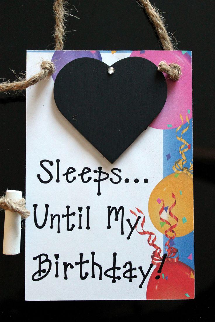 "Countdown to Birthday! ""Sleeps Until…My Birthday"