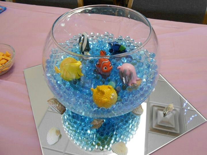 Easy Centerpieces For Finding Nemo Baby Shower Megans