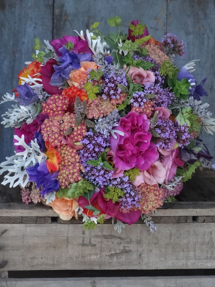 Indian colours, vintage styling July wedding flowers by