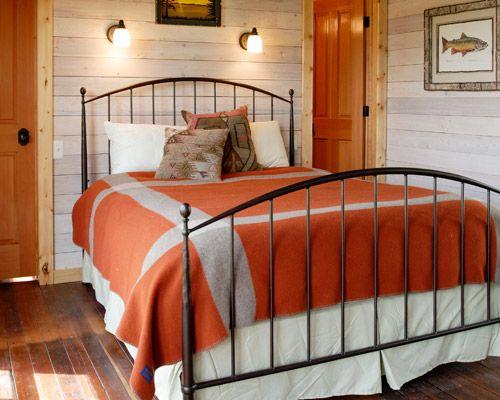Cozy bedroom with Pendleton blankets: