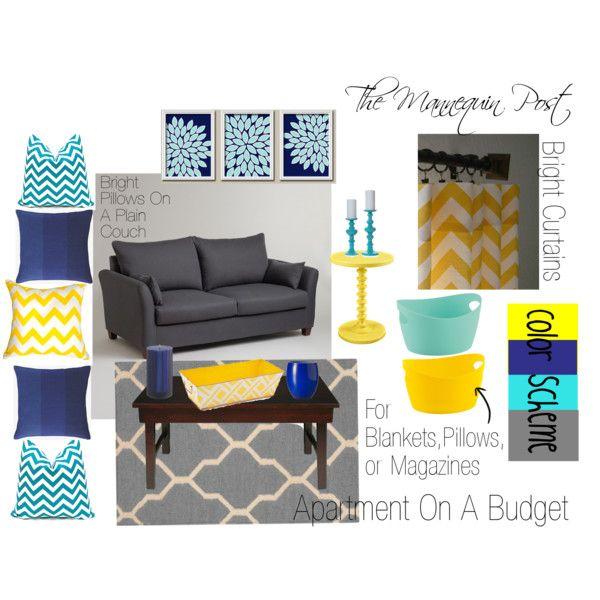 Apartment On A Budget. Apartment decoration, color scheme, Chevron, interior des