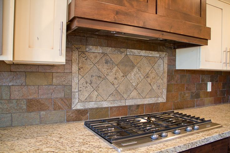 Tuscan Stained Glass Pattern Copper Slate Brick