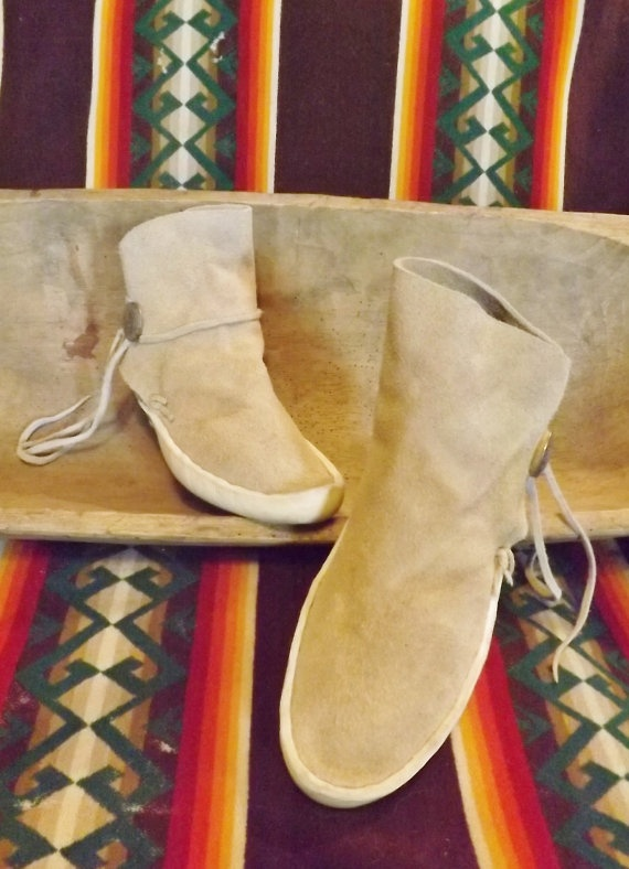 Authentic Handmade Navajo Kaibab Moccasins By